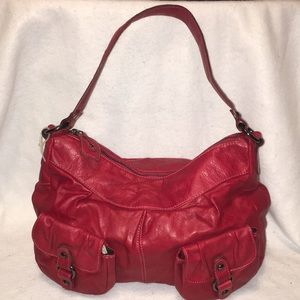 Marcia (Made in Italy ) Red Leather Purse 👜